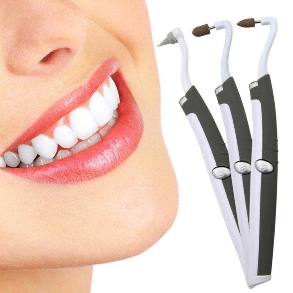Multi-función eléctrico Sonic LED dientes limpio vibración mancha borrador eliminador de sarro dientes pulido cerámica cabeza de molienda