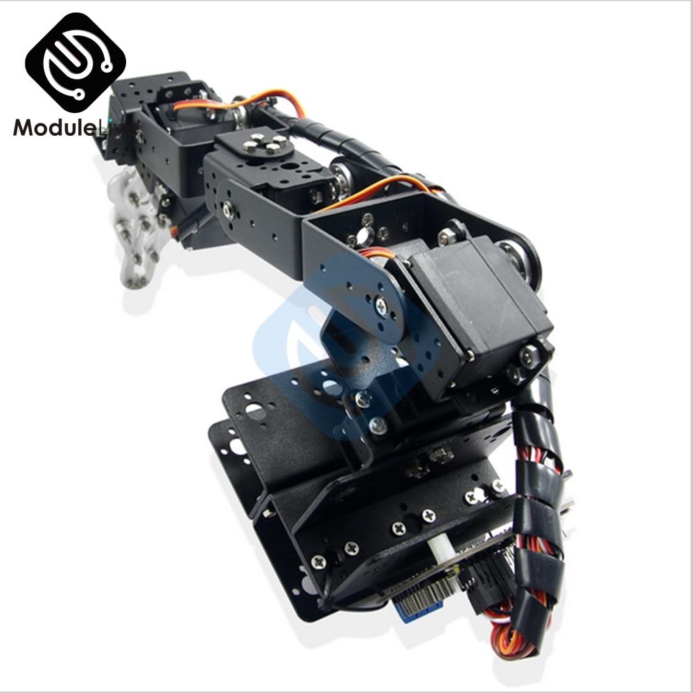 1 مجموعة الألومنيوم روبوت 6 DOF الذراع الميكانيكية الروبوتية الذراع المشبك المخلب جبل عدة دون الماكينات لاردوينو DIY روبوت أجزاء