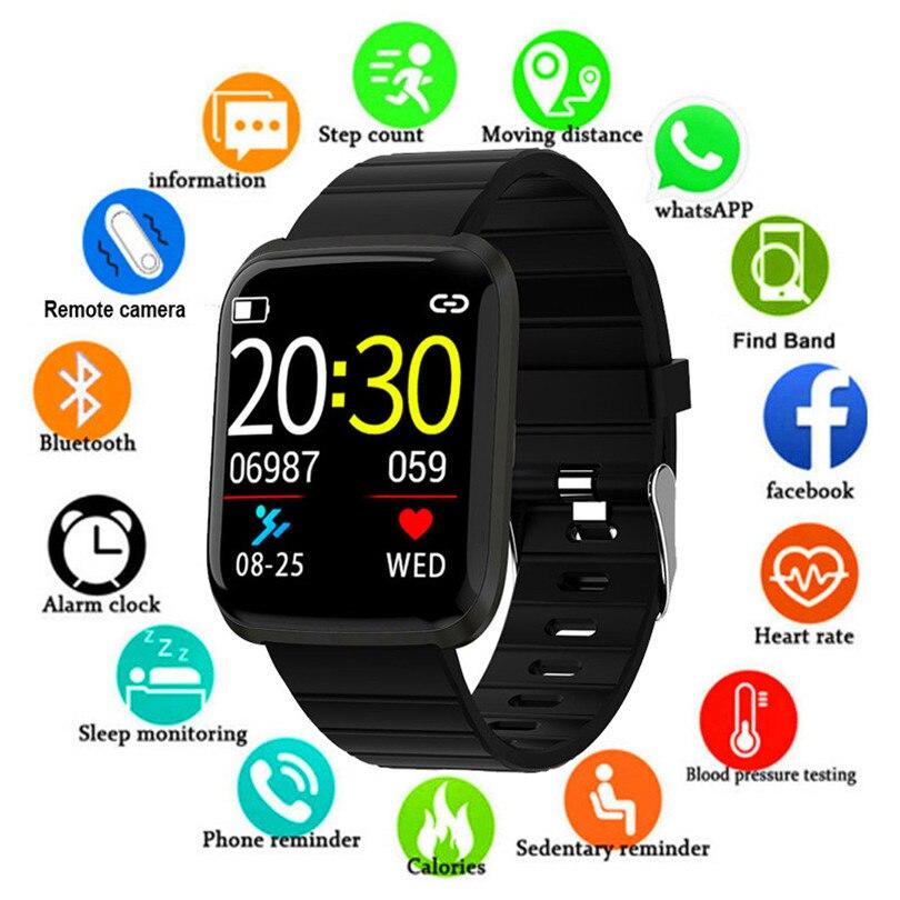 Reloj inteligente 2019 de presión arterial para hombre, reloj inteligente resistente al agua para mujer, reloj rastreador deportivo para Fitness, reloj inteligente para Android Ios
