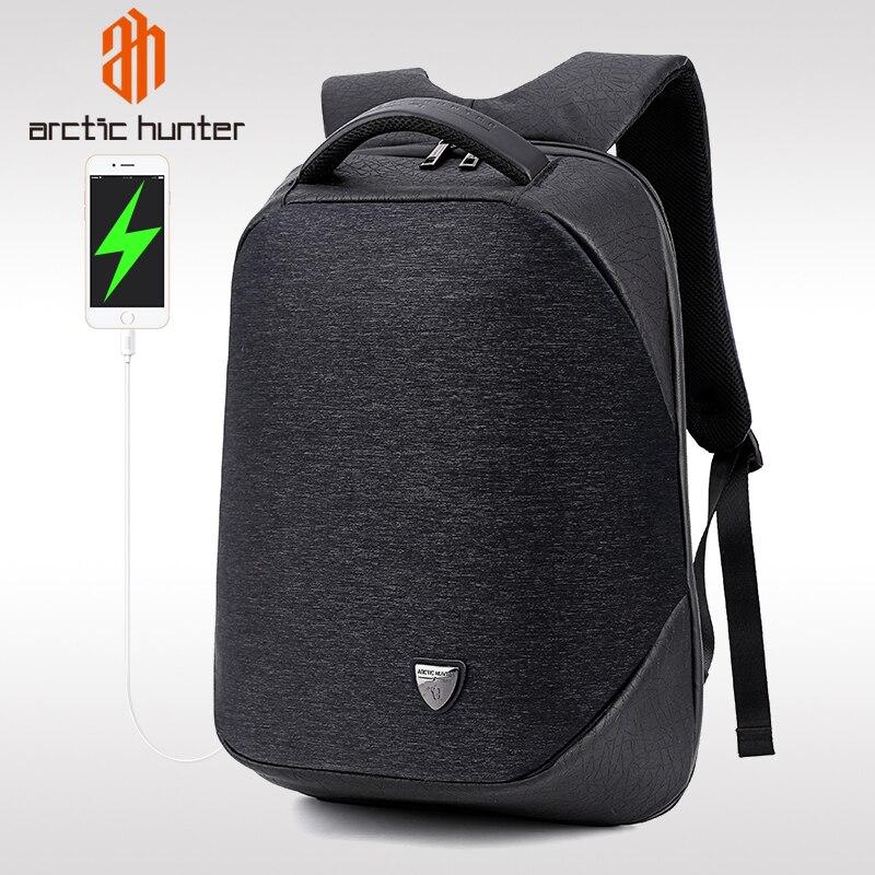 Mochila antirrobo para ordenador portátil de gran capacidad ARCTIC HUNTER 00193, mochila impermeable con carga USB para hombre, mochila de viaje para hombre