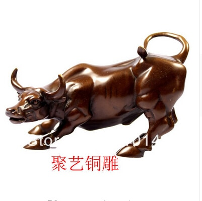 Cobre latón decoración artesanal China Asia Escultura de bronce, Gado de cobre artesano gado de bronce de cobre