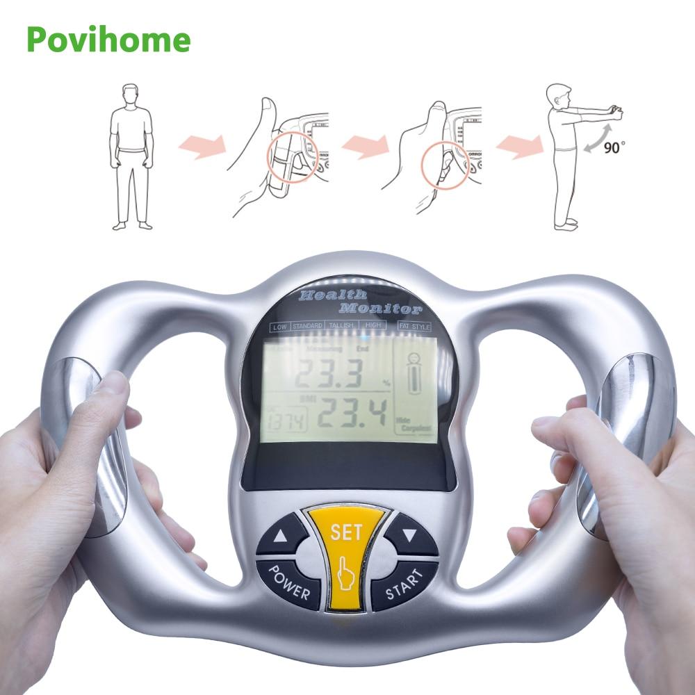 Цифровой ЖК анализатор жира ИМТ измеритель потери веса счетчик калорий