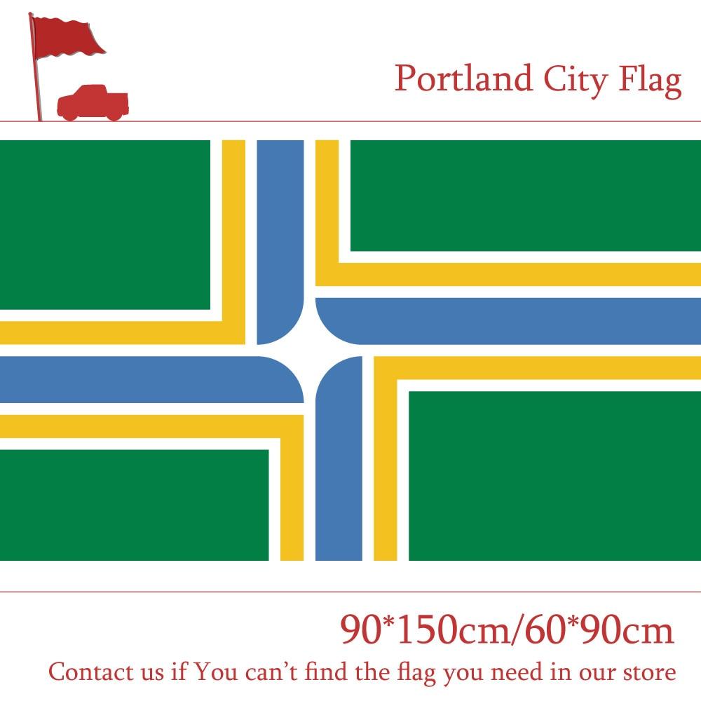 Bandera de ciudad de Portland del estado de Oregón 60*90cm 90*150cm 3x5ft Banners 100d poliéster para decoración del hogar