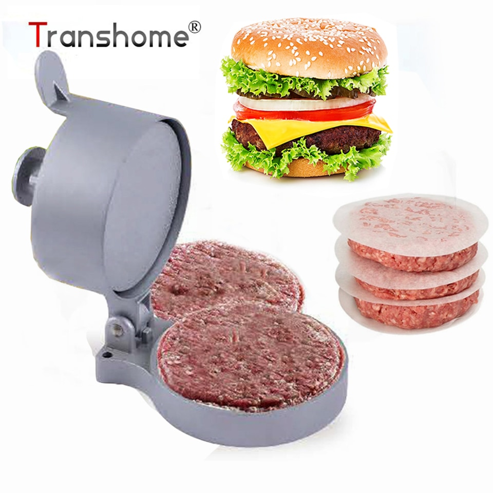 Transhome Hamburger Meat Press Aluminum Alloy Kitchen Burger Press/Paper Beef Patty Maker Mold Hamburger Press Burger Maker Tool