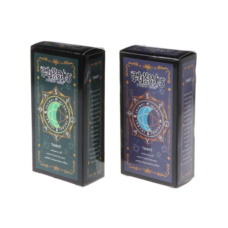 Hot Sell Student Tarot Cards With Colorful Box Mysterious Divination Astrology Board Game