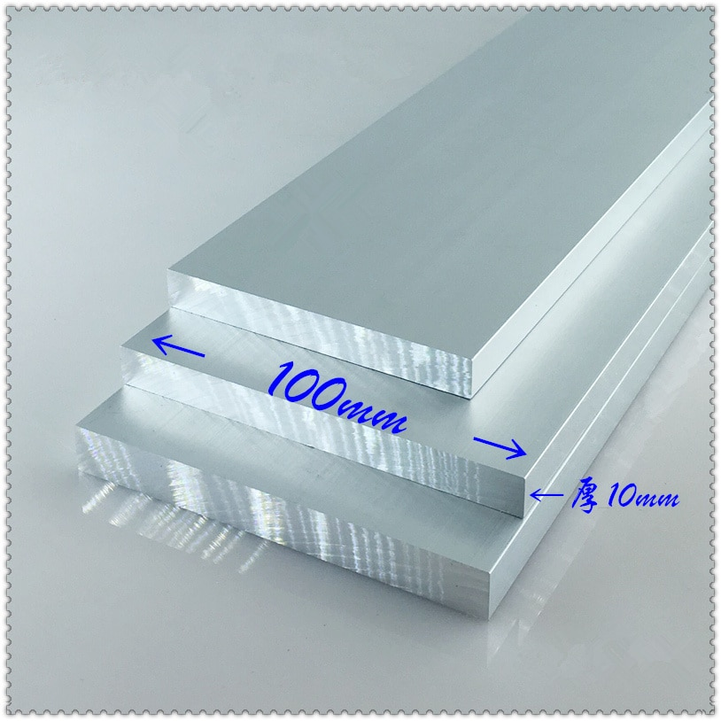 Aluminium alloy plate 10mmx100mm article aluminum 6063-T5 oxidation width 100mm thickness 10mm length 100mm 1pcs