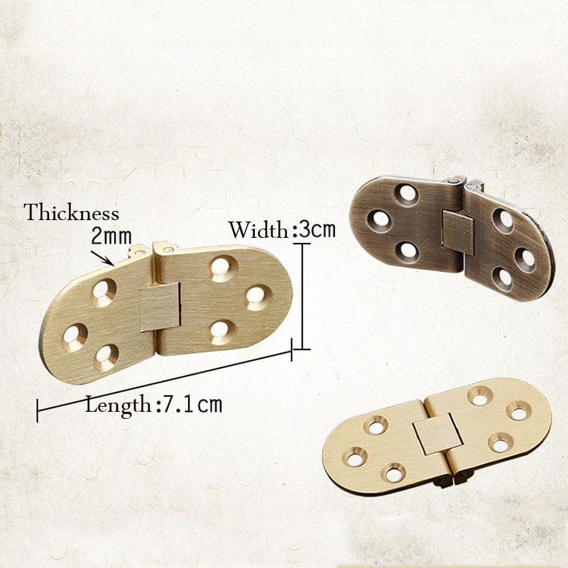 2pcs Pure copper hinge wooden box hinge flap hinge thickening