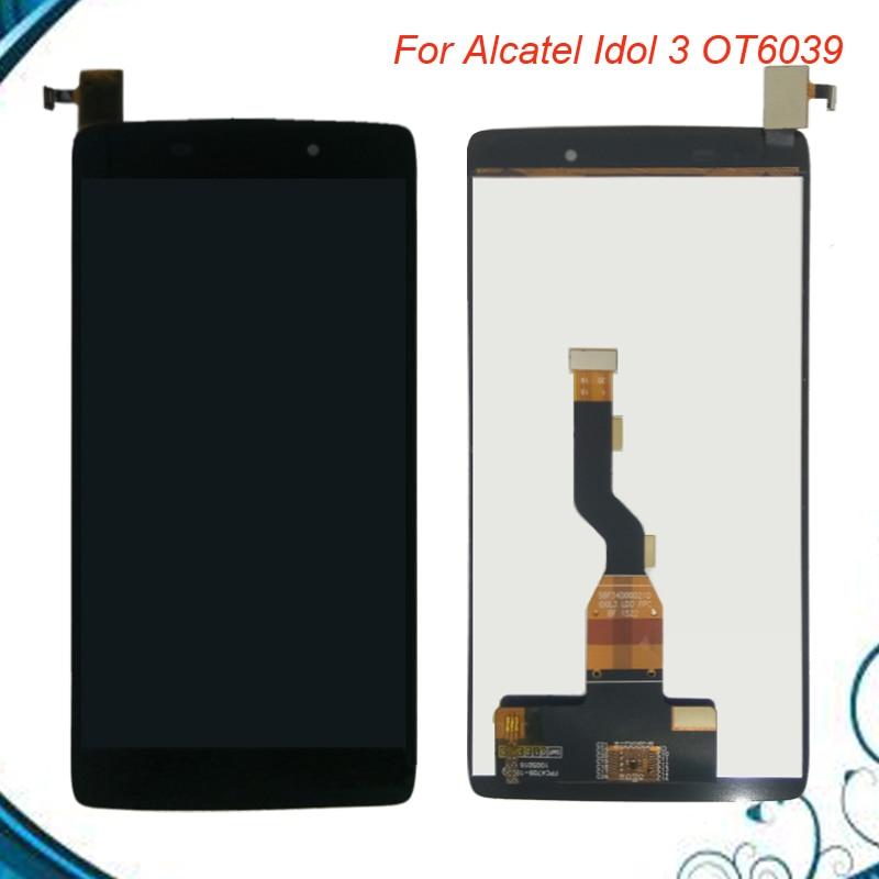 Pantalla LCD de 4,7 pulgadas para Alcatel Idol 3 6039 6039A 6039K 6039Y pantalla LCD MONTAJE DE digitalizador con pantalla táctil de repuesto