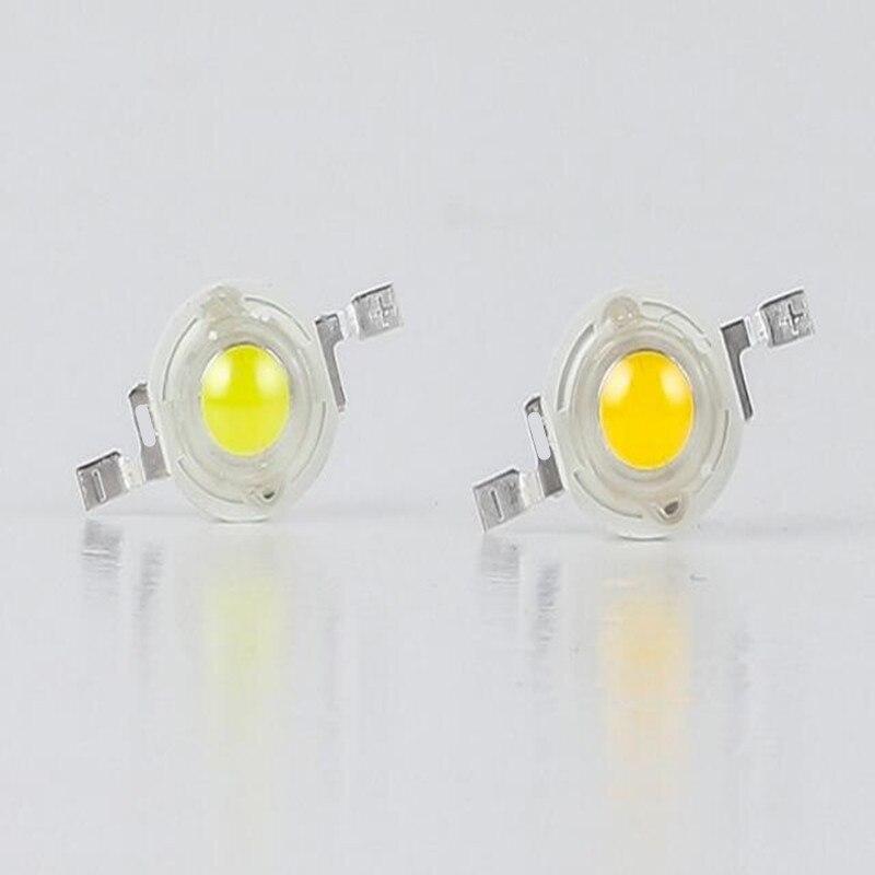 1W LED chis de alta potencia 1W LED lámpara grano blanco puro/blanco cálido 110-120LM 30mil Genesis Chip envío gratis