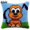 Diy 래치 후크 개 베개 크로스 스티치 키트 자수 바느질 세트 만화 카펫 바느질 Crocheting 러그 키트 쿠션 매트