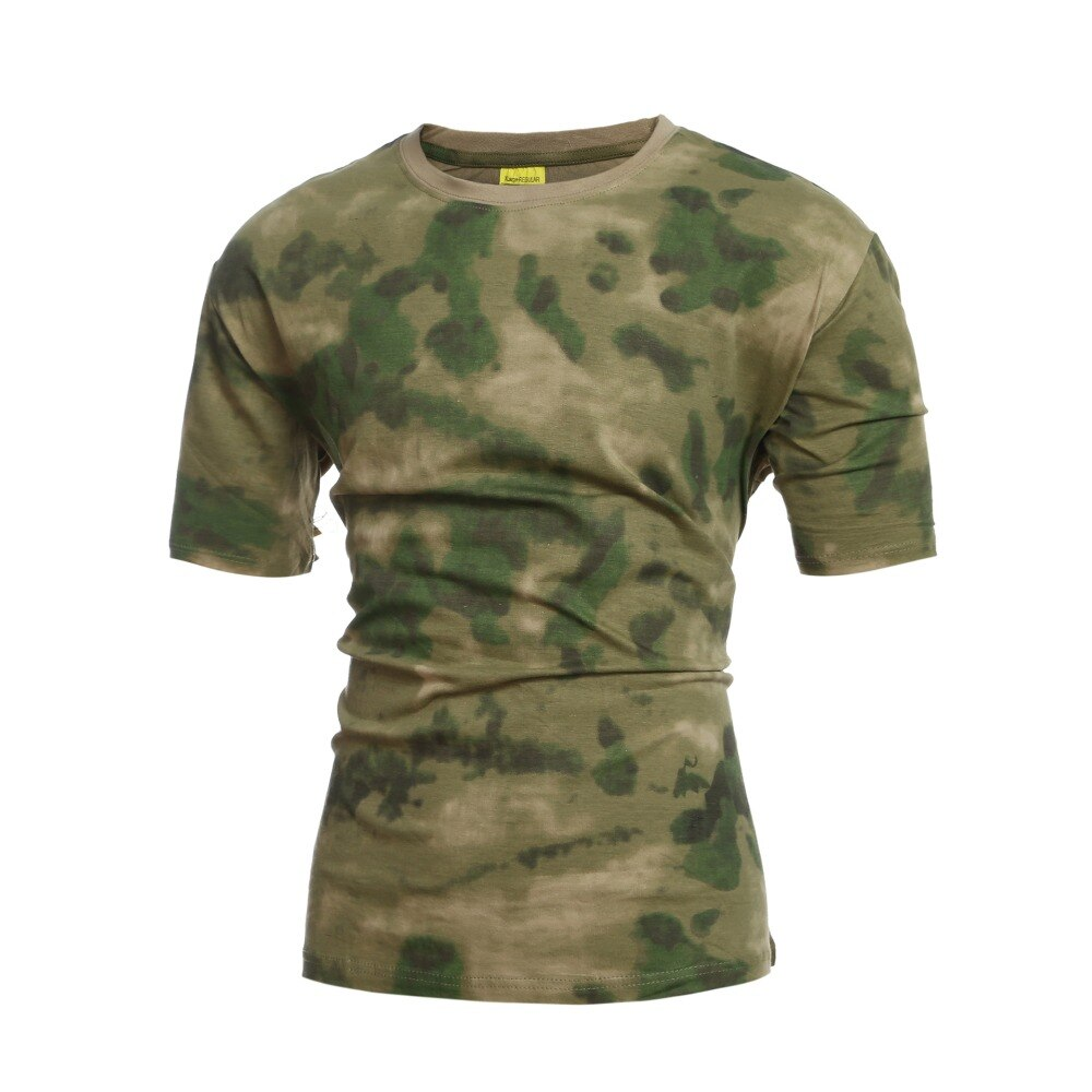 Ratón sobre la imagen para zoom detalles A-TACS FG Camo camiseta follaje verde ejército de Cuerpo de Marines USMC Paintball SWAT camiseta