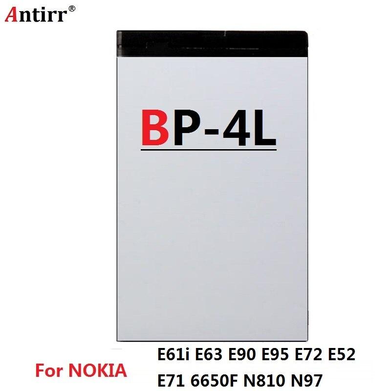 Original antirr batería BP-4L para NOKIA E52 E55 E61 E61i E63 E71 E71X E72 E72i E73 E90 E90i E95 N97 N97i N810 6760, 1500mAh