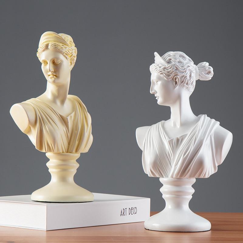 Afrodita Diosa Venus busto medio-longitud foto o retrato casa Oficina escritorio resina mitología romana R119