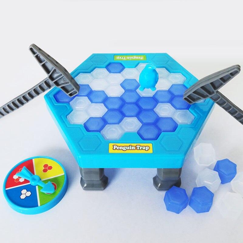 Mini activar divertido juego trampa de pingüinos mesa de hielo interactivo trampa de pingüinos juguete de entretenimiento para niños Juego de diversión familiar