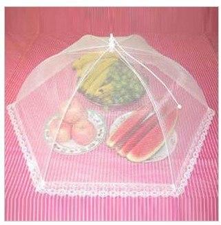 (10 pçs/lote econômico e prático gaze renda mesa alimentos pop-up malha capa de alimentos, máscara de frutas, anti-inseto capa cor aleatória