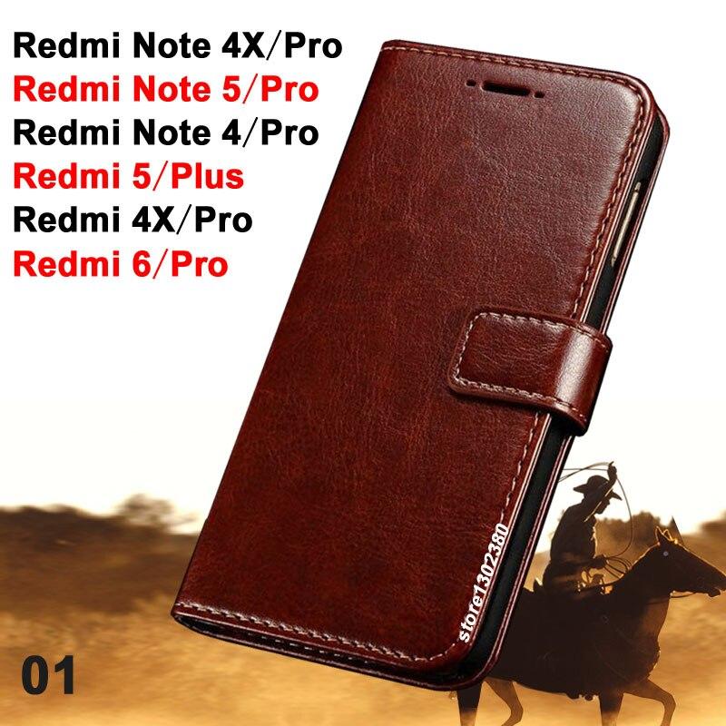Xiaomi Redmi Hinweis 5 Pro fall leder Crazy horse abdeckung für Xiaomi Redmi 5 Plus fall Neue Xiaomi Redmi6 Pro /Redmi Hinweis 4/4x Pro