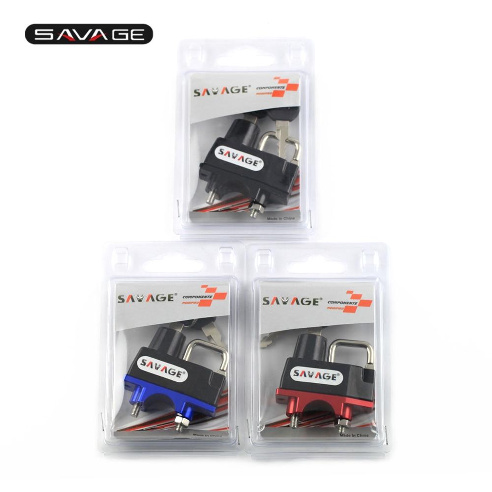 Abrazadera de manillar de bloqueo de casco para HONDA CTX 700/1300 NC 700 S/700DCT/700X/750 S/750DCT/750X CMX250 Rebel MSX125 GROM MSX 125 SF