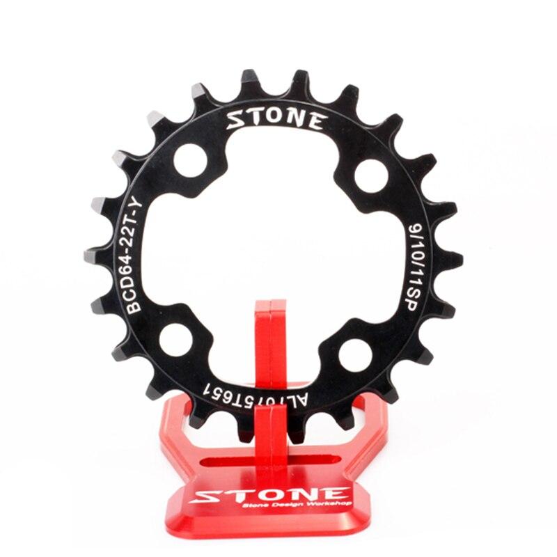 Pedra bicicleta chainring 64 bcd 64mm oval ou círculo para mtb substituir inner chainring estreito largo dentes escalada bicicleta anel de roda dentada