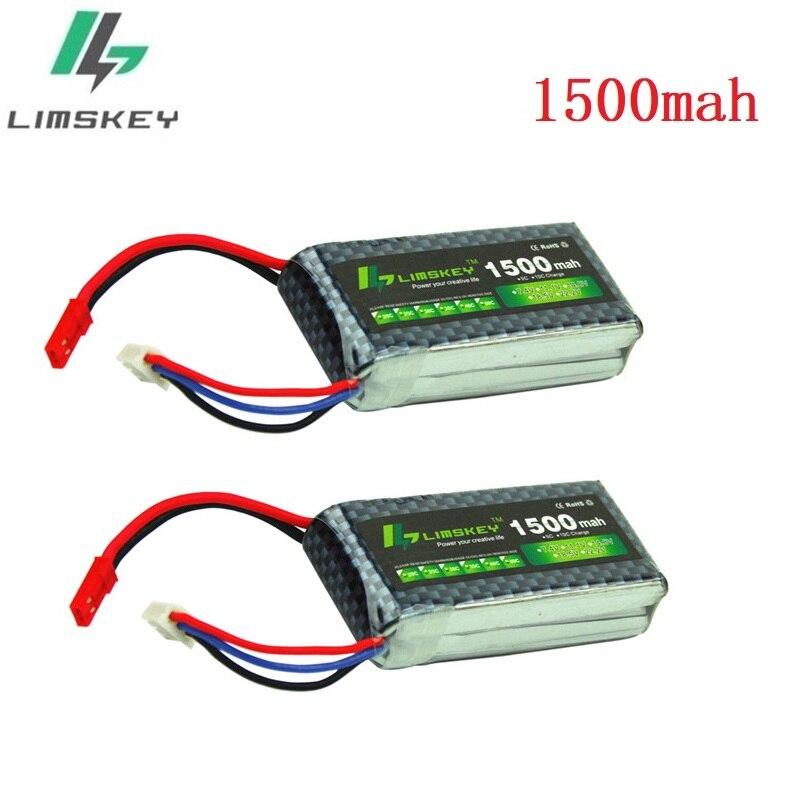 Limskey Power, 7,4 В, Lipo батарея 2 s, 1500 мАч, 25C, 25c, 30C для радиоуправляемого квадрокоптера, вертолета, автомобиля, JST/T, игрушка, 2S аккумулятор, 2 шт.