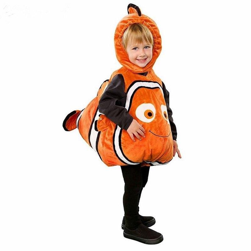 Animal Cosplay bebé niños peces pez payaso traje animada de Pixar película Buscando a Nemo Navidad Purim Carnaval, halloween niños cosplay