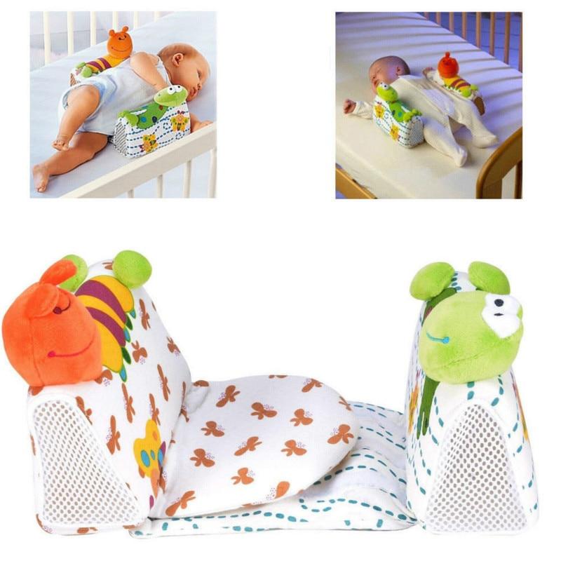 Cute Baby Girl Boy Newborn Safe Anti Roll Pillows Toddler Kids Neck Protection Pillow Sleep Positioner Prevent Flat Head Cushion