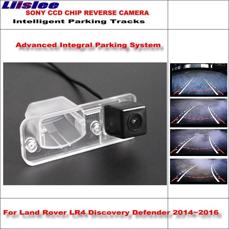 Câmera Traseira de Backup Reversa Para Land Rover Discovery LR4 Liislee Defensor 2014 ~ 2016 HD 860*576 Estacionamento Inteligente faixas