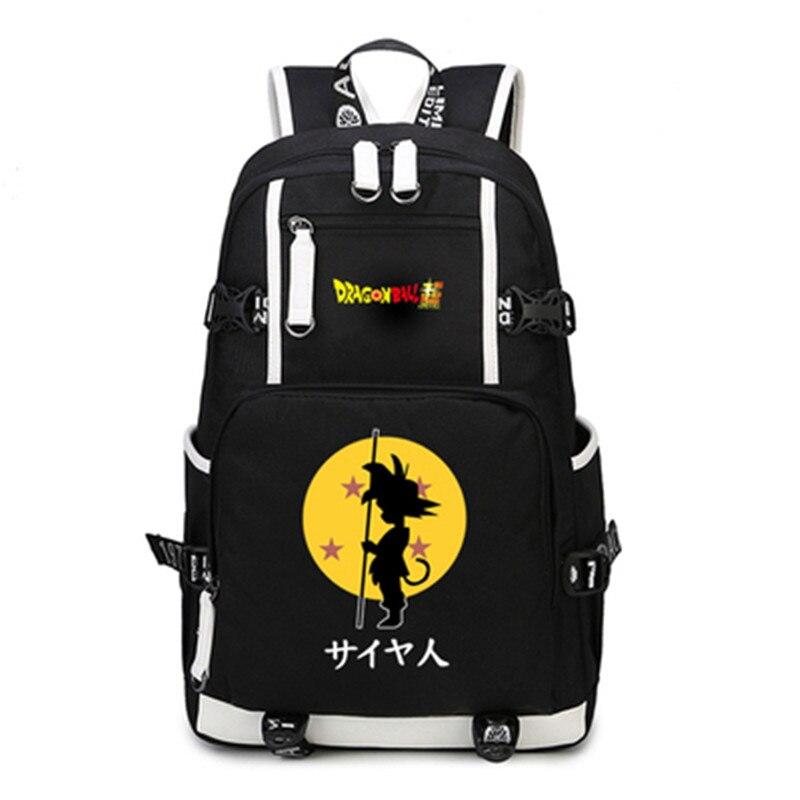 Anime Dragon Ball Z Rucksack Cosplay Dragon Ball Goku Rucksack Leinwand Schulranzen Laptop Studenten Spaß Mädchen Jungen Taschen Geschenke