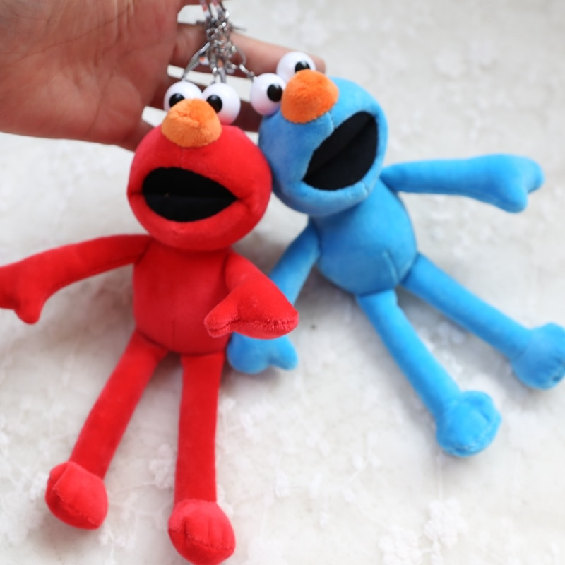 wholesale 10pcs 18cm cartoon Sesame Street elmo plush little bag key chain vehicle pendant high quality stuffed toy girl gift