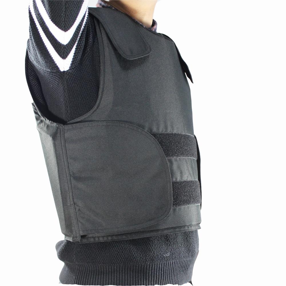 كيفلار-سترة مضادة للرصاص ، سترة شرطة ، مقاس L ، لون أسود مع حقيبة ، شحن مجاني