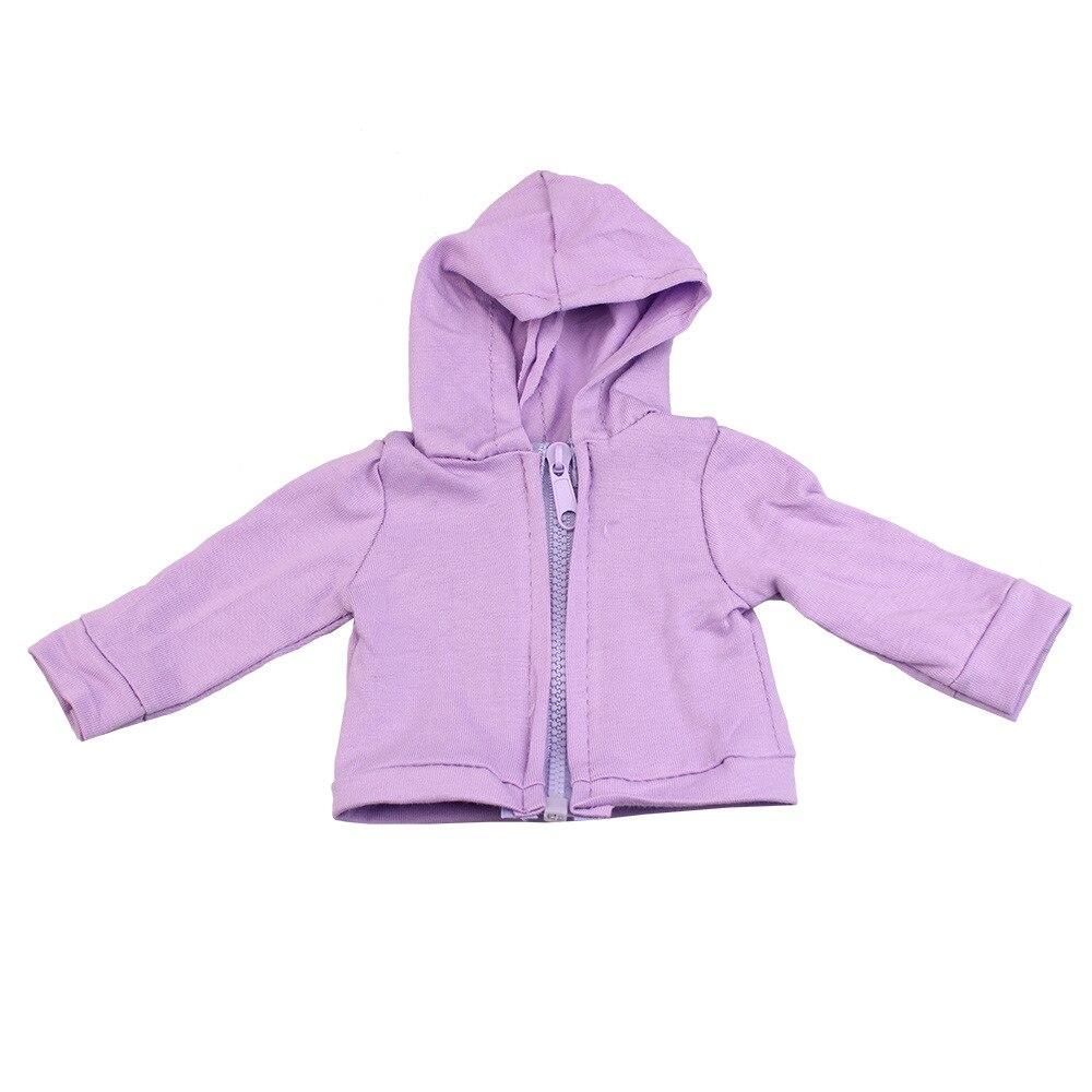 Chaqueta con cremallera rosa a la moda con sombrero para bebés, ropa para muñecas de 18 pulgadas 43 cm, accesorios para recién nacidos, regalos para niñas