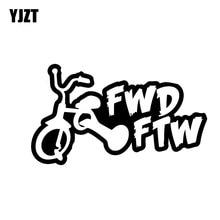Yjzt 15Cm * 8.6Cm Fwd Ftw Sticker Auto Decal Vinyl Grappige Drift Turbo Racing Zwart/Zilver C10-00817