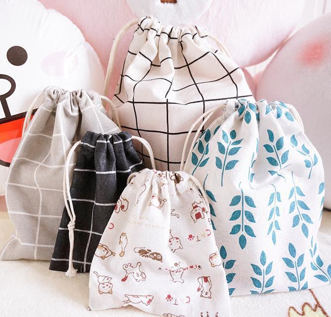 De lino bolsa Favor 8x10cm 9x12cm 10x15 cm, 13x17cm paquete de 50 bebé ducha cumpleaños fiesta bolsa de regalo de boda