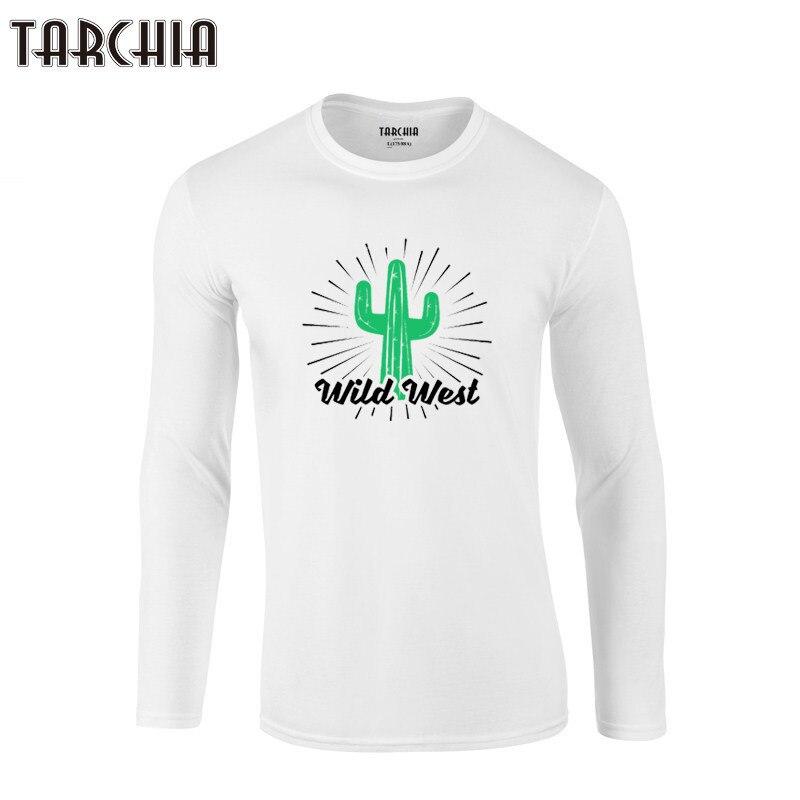 TARCHIA 2019 Salvaje Oeste Camisetas hombres marca ropa camiseta nueva camiseta moda manga larga Camiseta Hombre