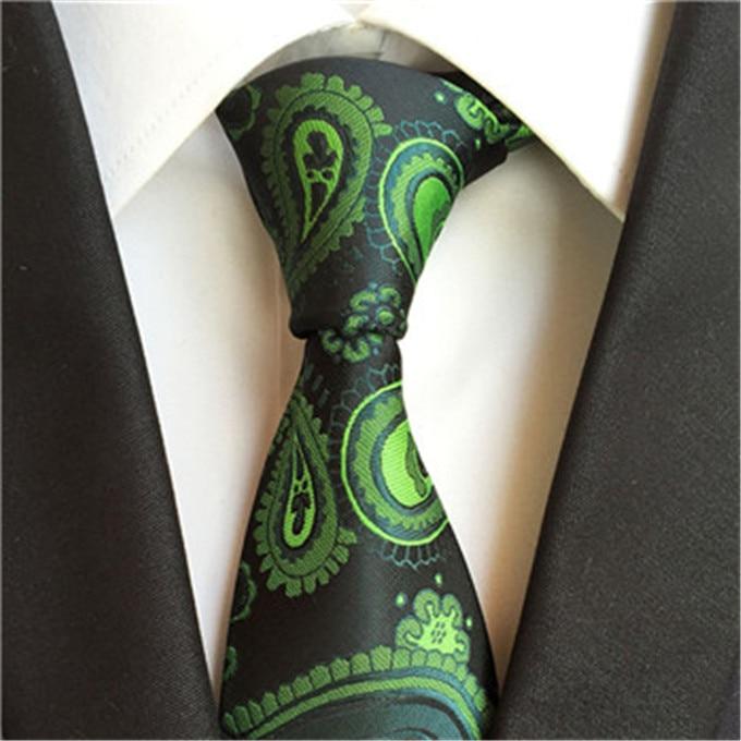 SCST абсолютно новый зеленый гравата 8 см Тонкий шелковый галстук с цветочным принтом Свадебный шейный галстук-бабочка мужские галстуки для м...