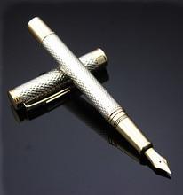 Luxe Briefpapier Executive Kantoorbenodigdheden Krokodil 218 vulpennen unieke desigh Zilveren verhoogd schrijven merk gift pen