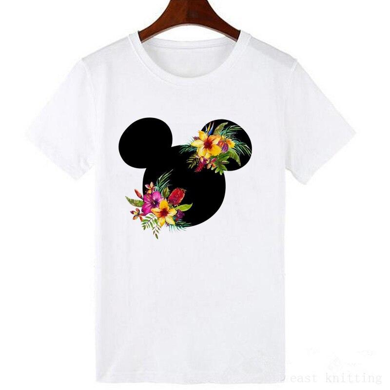 Fashion Women Printed Cartoon T-Shirt Tumblr Grphic T Shirt Cute Female Tees Print T-shirts