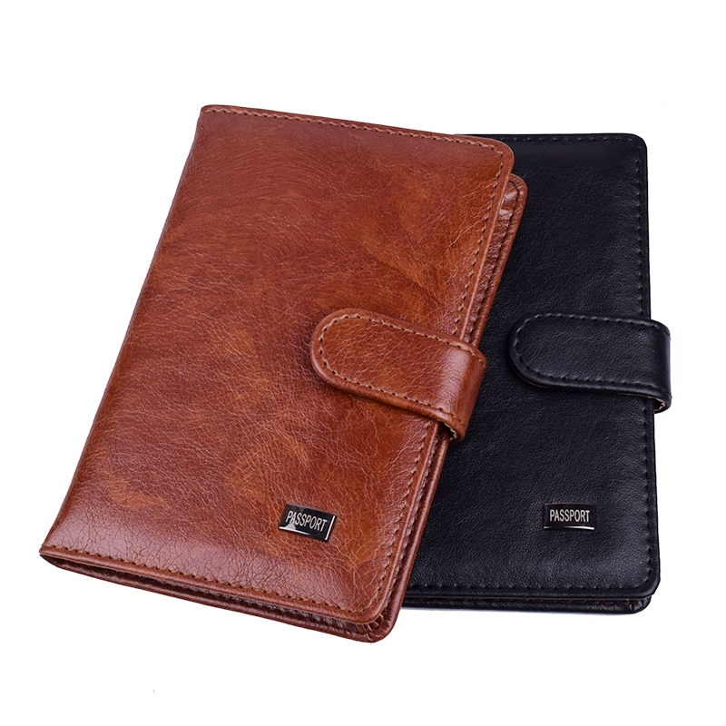 Travel Hasp Passport Holder Cover Leather Wallet Women Men Passports For Document Pouch Cards Case �