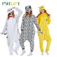 Kigurumi Adult Winter Animal Pajamas Pink Unicorn Sets Women Men Unisex Flannel panda Nightie Stitch unicornio Sleepwear