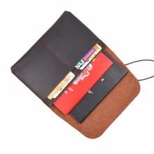 Nouveautés 100% en cuir véritable passeport couverture solide crédit porte-carte Vintage hommes femmes passeport Case affaires voyage portefeuille