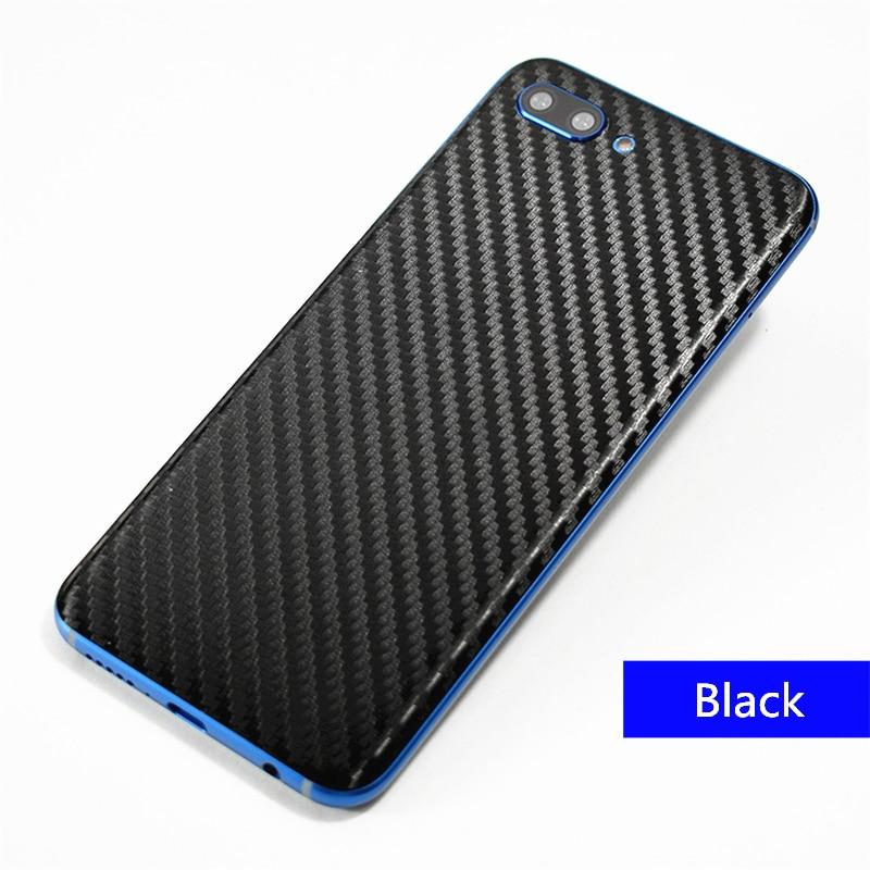 2019 3D fibra de carbono cuerpo pegatina piel teléfono móvil pegatinas de cuero patrón de película para Huawei Honor 10 caso Protector pegatina trasera