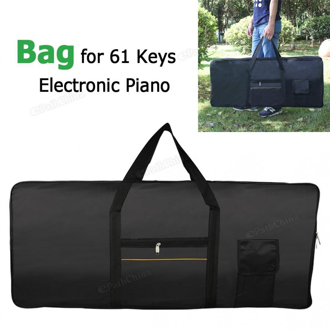 Waterproof Black Electronic Organ Oxford Fabric Portable Bag 100cm*40cm*16cm for 61 Keyboards Piano