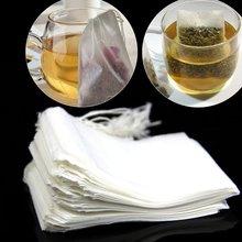 Sachet de thé vide en papier 50 pièces   Cordon de thé vide, filtre thermoscellé sachet de thé ample