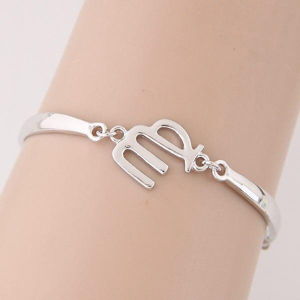 Оптовая продажа, Зодиак, ювелирный браслет, серебряная цепочка, браслеты для женщин, очаровательный браслет Aries Virgo, Таурус, рак, Capricom, весы