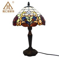 Mediterranean Retro Style Glass Turkish Mosaic Table Lamps Handworked Study Bedroom Home Art Decor Turkish Lamp