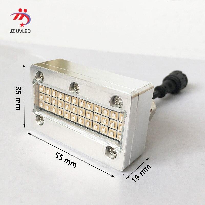 Pequeñas lámparas de curado de tinta UV para impresora de superficie plana APEX UV6090 Sunjet Epson DX5 cabezal de inyección de tinta para impresora fotográfica cure 395nm cob UV luz led