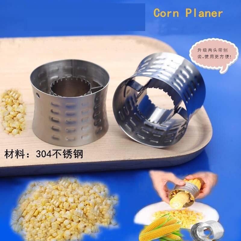Peladora de acero inoxidable, suministros de cocina, trilladora, artilugios creativos, cortador de grano de maíz