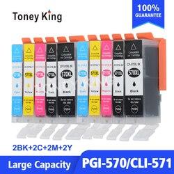 Toney Rei PGI570 PGI 570 Cartucho de Tinta Para Canon PIXMA PGI570 CLI571 PGI-570 MG5752 MG6850 MG6851 MG6852 TS6050 TS5050 Impressora