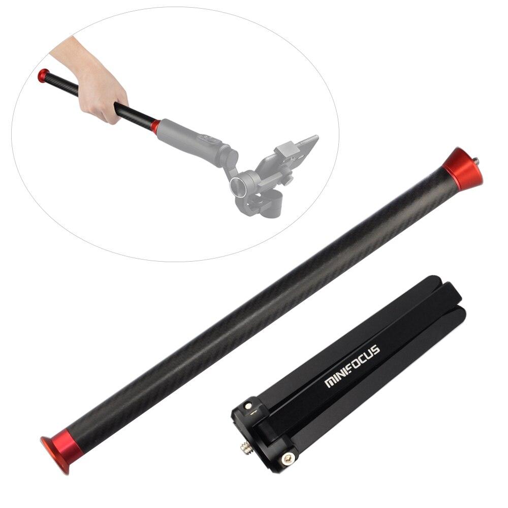 Extensão de fibra carbono pólo vara vara monopé para dji ronin s osmo móvel 2 zhiyun guindaste 2 suave 4 3 q weebill cardan handheld