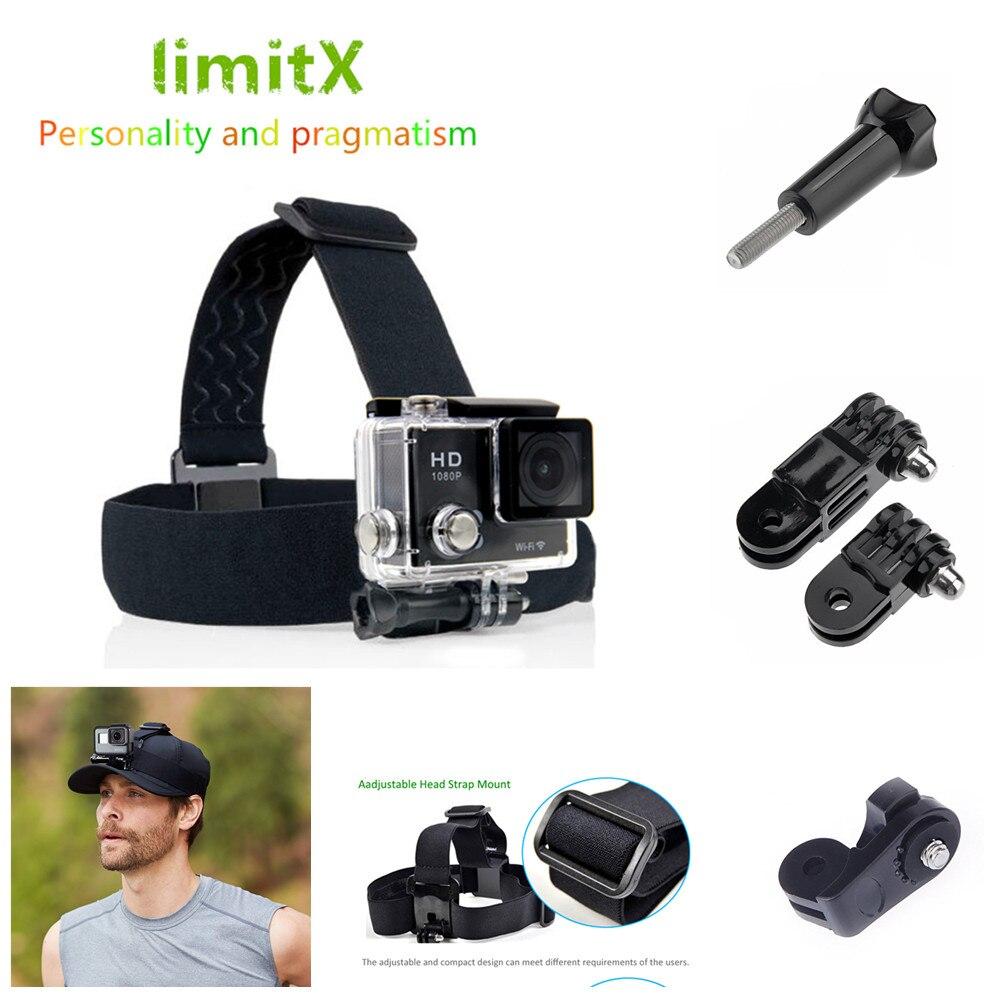 Limitx cabeça cinta banda montagem para xiaomi yi ii 2 4k lite ricoh WG-M1 WG-M2 m1 m2 theta sc s m15 360 contorno + 2 roma2 roma3