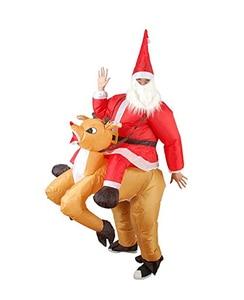 Santa Claus Christmas elk inflatable costume Xmas/Christmas inflatable costume party costume full set